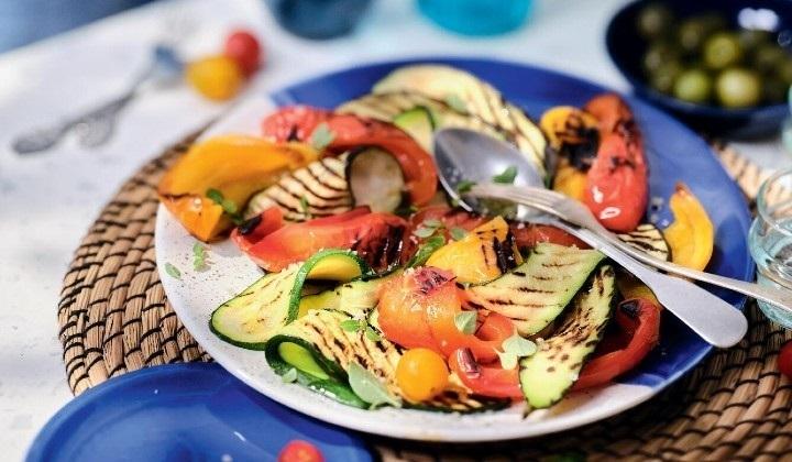 4種類の焼き野菜ミックス(ナス、ズッキーニ、赤・黄パプリカ)