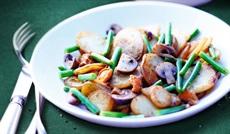 付合せ野菜ミックス(シャガイモ、インゲン、キノコ)