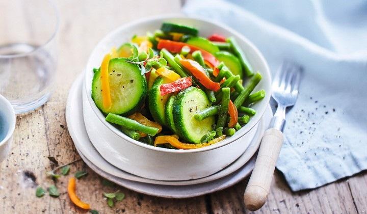 温野菜ミックス(インゲン、ズッキーニ、2色のパプリカ)