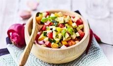 南仏野菜の角切り(ズッキーニ、トマト、素揚げナス、素揚げオニオン、赤、黄パプリカ)