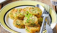 野菜のガレット(ポロネギ、人参、ブロッコリー)