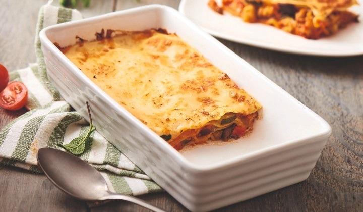 モッツアレラチーズと野菜のラザニア