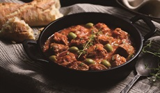 豚肉のトマトオリーブ煮