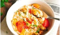 ムール貝のトマト風味リゾット
